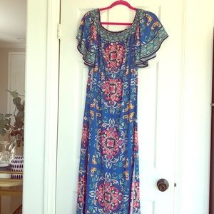Beautiful summer dress with vibrant colors